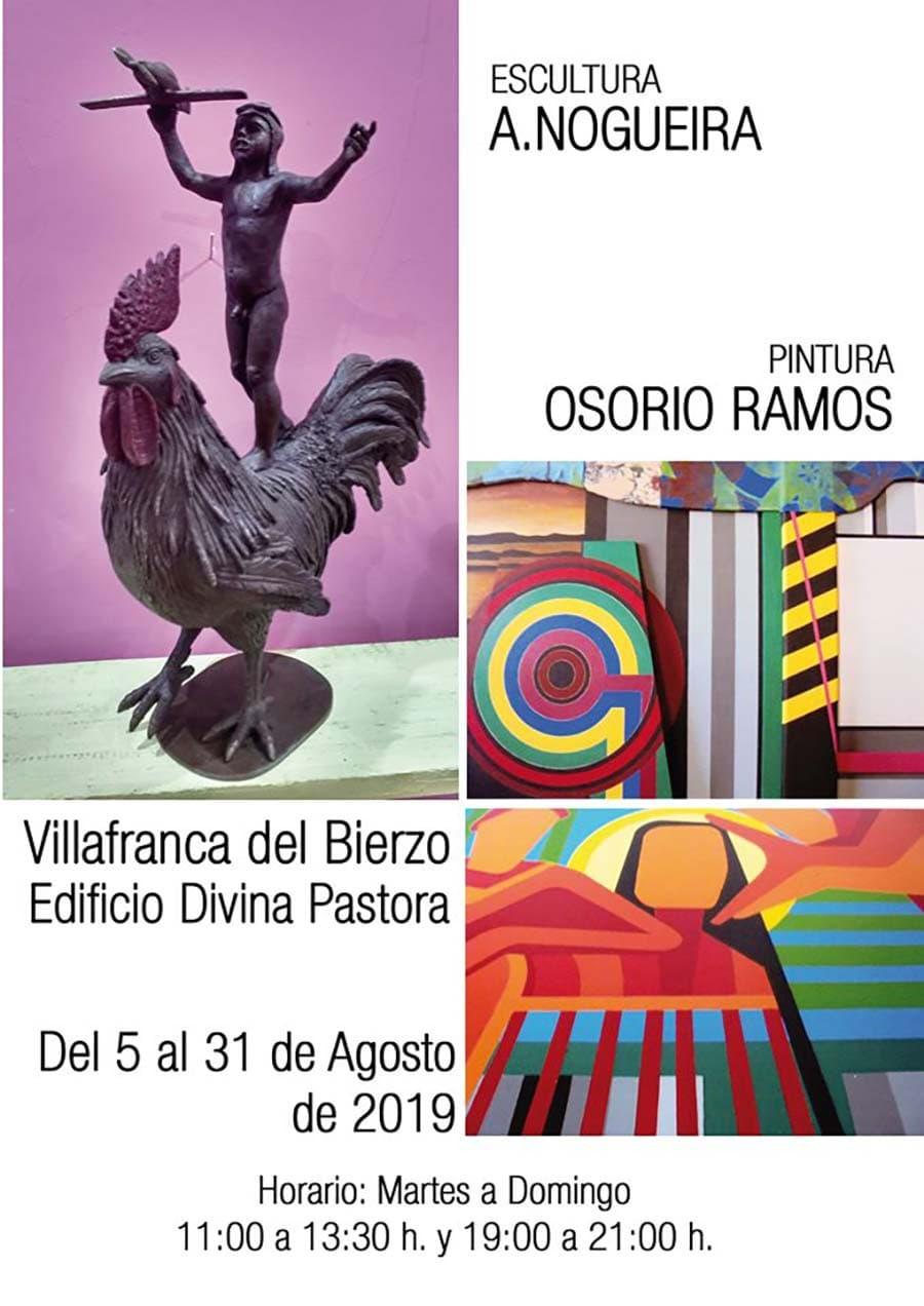 cartel expo escultura pintura nogueira ossorio ramos villafranca del bierzo