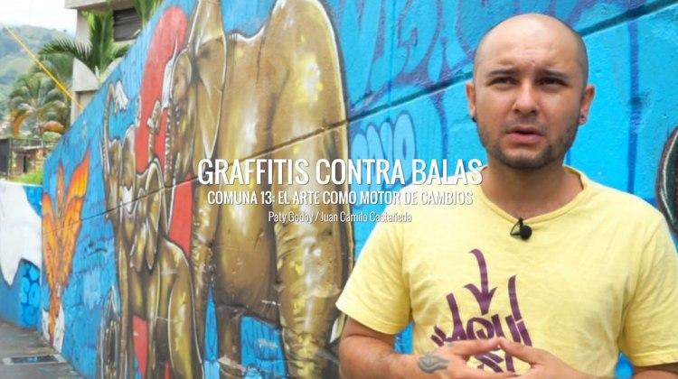 Graffities en la Comuna 13 de Medellín