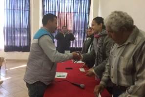 Ejidatarios de Santiago Tulantepec se benefician con el Seguro Agrario Catastrófico