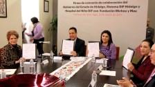 Sistema DIF Hidalgo signaron convenio de colaboración con la fundación Michou y Mau4