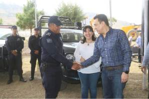 Entregan equipamiento a fuerzas de seguridad de Cuautepec