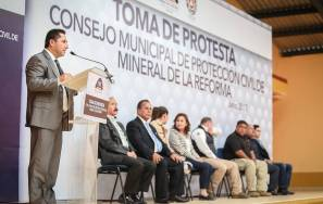 Toma protesta Comisión de Protección Civil de Mineral de la Reforma3