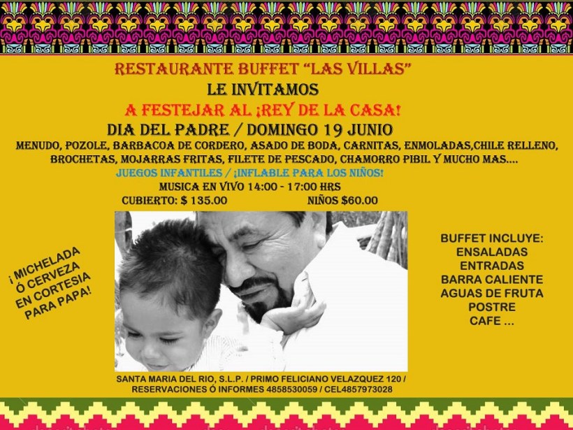Día del Padre en el Restaurante Buffet Las Villas