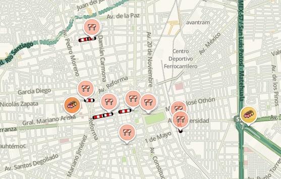 Conoce el estado de la vialidad en San Luis Potosí