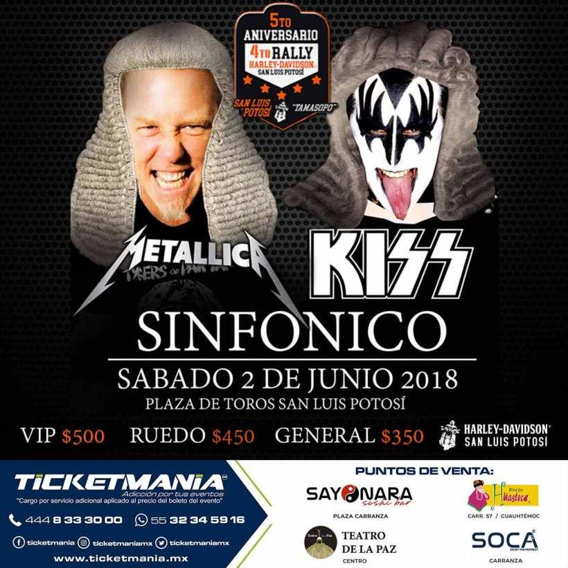 Kiss y Metallica Sinfonico