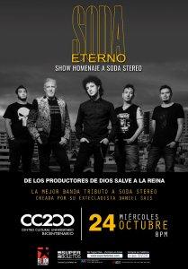 Soda Eterno, el show homenaje a Soda Estereo @ CC Bicentenario | San Luis Potosí | San Luis Potosí | México
