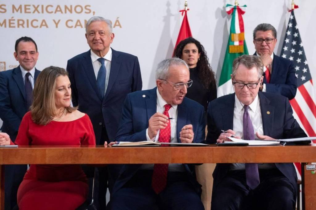 México, Canadá y Estados Unidos firman modificaciones del T-MEC