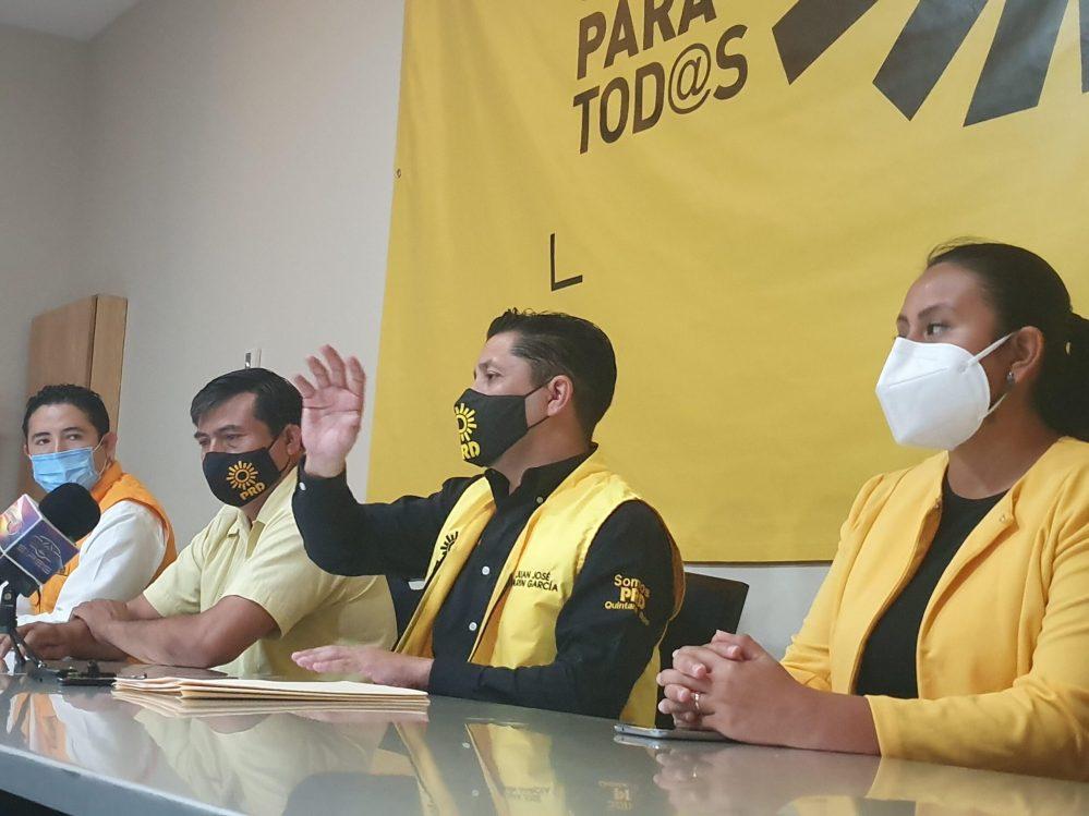 Impulsa el PRD en Quintana Roo gran alianza electoral con otros partidos: Juan José Marín