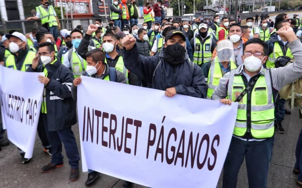 Trabajadores de Interjet se declaran en huelga por falta de pagos