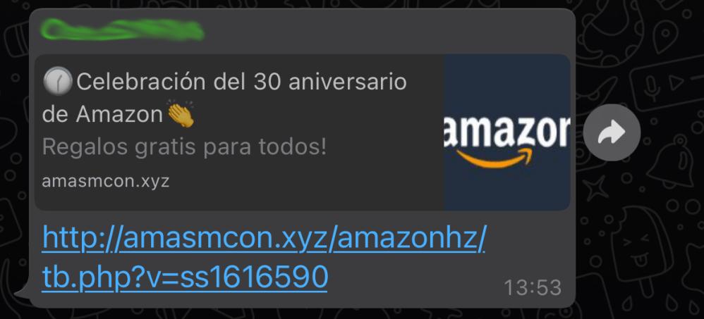 No, Amazon no está de aniversario dando regalos, es una estafa y quieren robarte tus datos