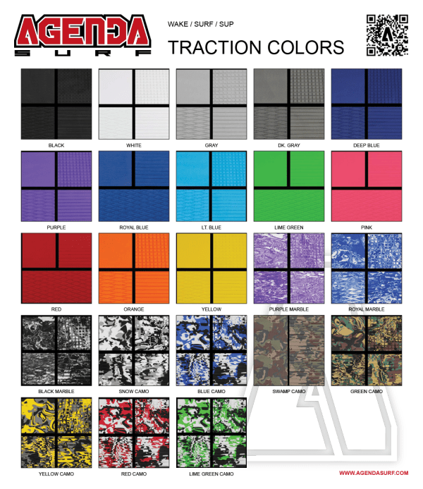 Select from 20+ colors