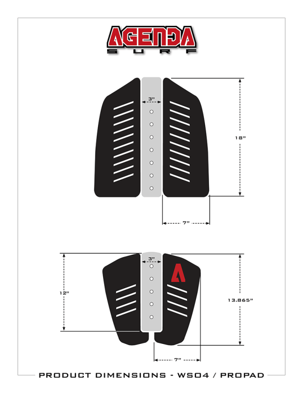 Pro Pad XL front & rear Size/Dimensions
