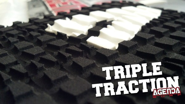 Exclusive Triple Traction Groove Pattern