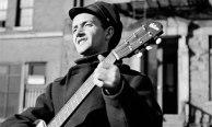 Folk singer Woody Guthrie in NYC