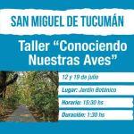 19 de Julio – Taller: Conociendo nuestras aves
