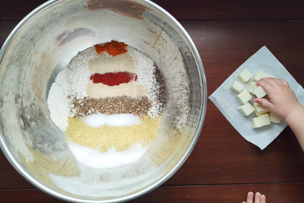 Cracker dry ingredients