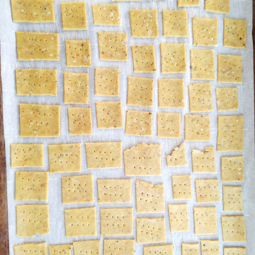 Crackers ready to bake