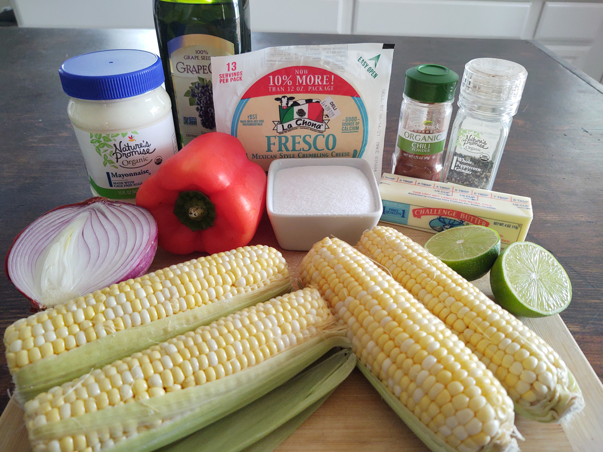Ingredients for Mexican Street Corn