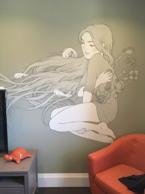 living room mural