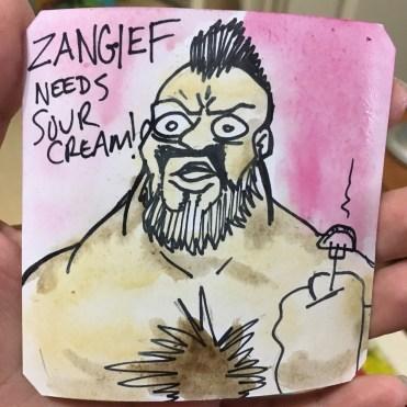 Zangief celebrates with Perogies @LordBBH