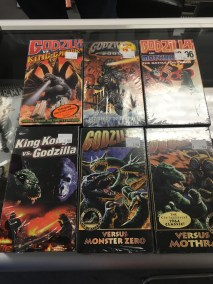 All the Godzilla VHS's
