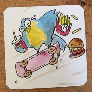 Skateboard Kid with more fast food @Macaw45
