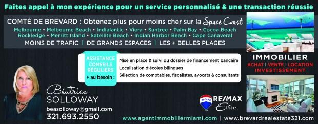 Solloway Béatrice Agent Immobilier Français en Floride