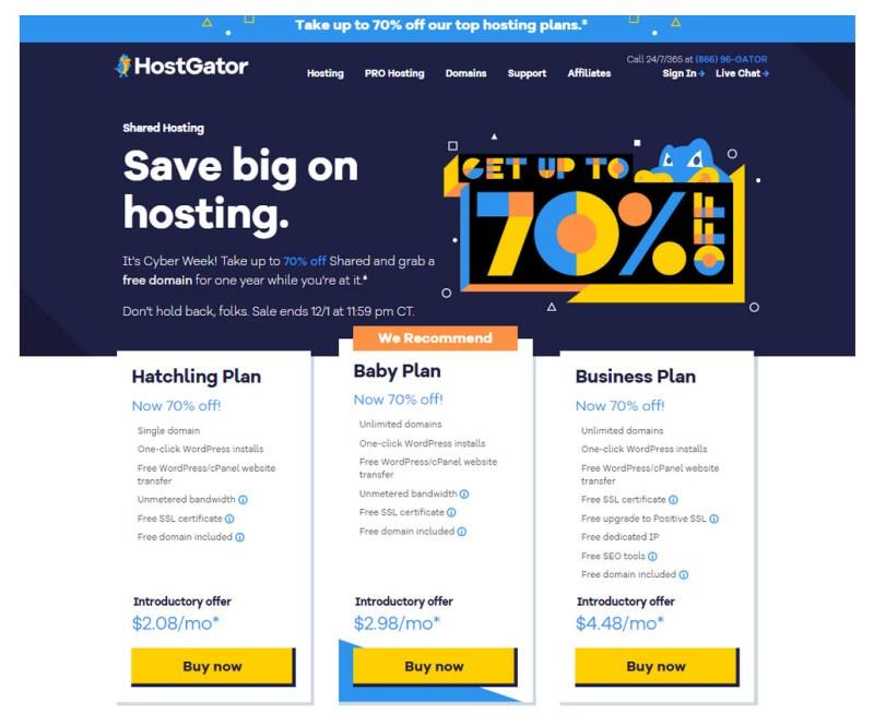 HGHostingPlans - HostGator Web Hosting Review