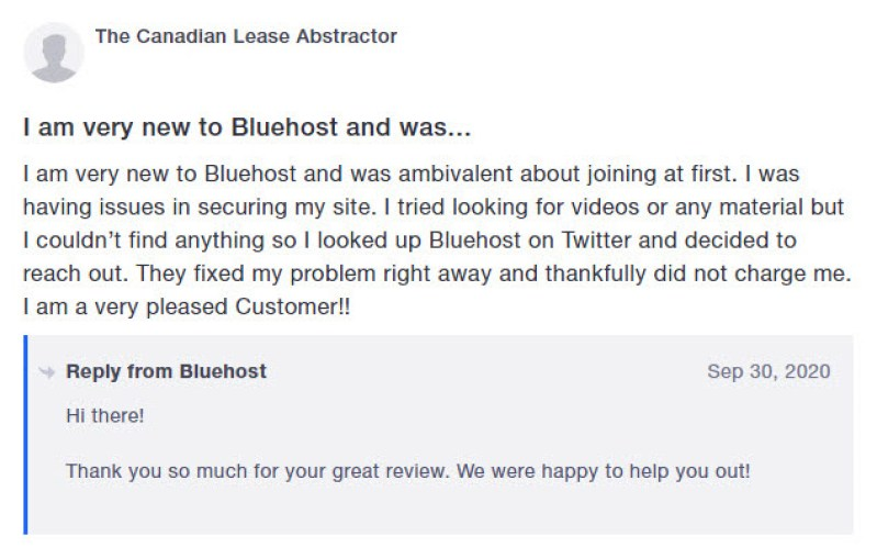 BluehostTestimonial5 300x187 - Bluehost Hosting Review