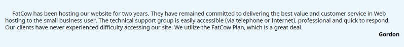 FatcowTestimonial5 300x35 - FatCow Hosting Review