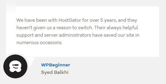 HostGatorTestimonial12 - HostGator Web Hosting Review