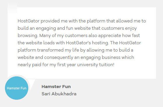 HostGatorTestimonial8 - HostGator Web Hosting Review