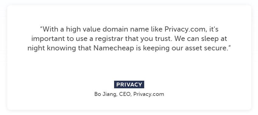NamecheapTestimonial2 - NameCheap Hosting Review
