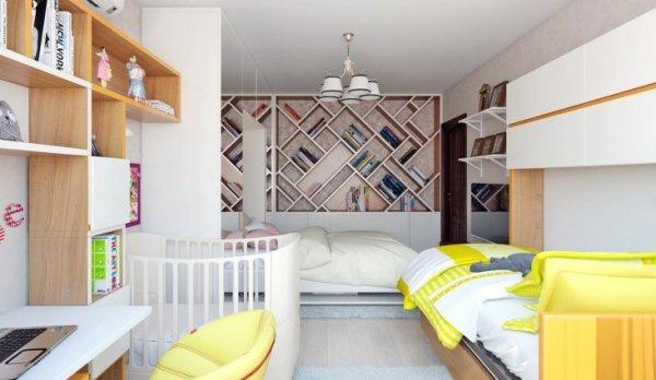 Детская кровать в интерьере – мягкие белые и другого цвета ...