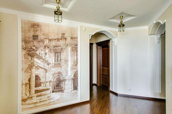 Фото фреска в гостиной – Купить недорого фрески на стену ...