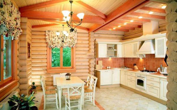 Внутренняя отделка дома из бревна фото: Внутренняя отделка ...