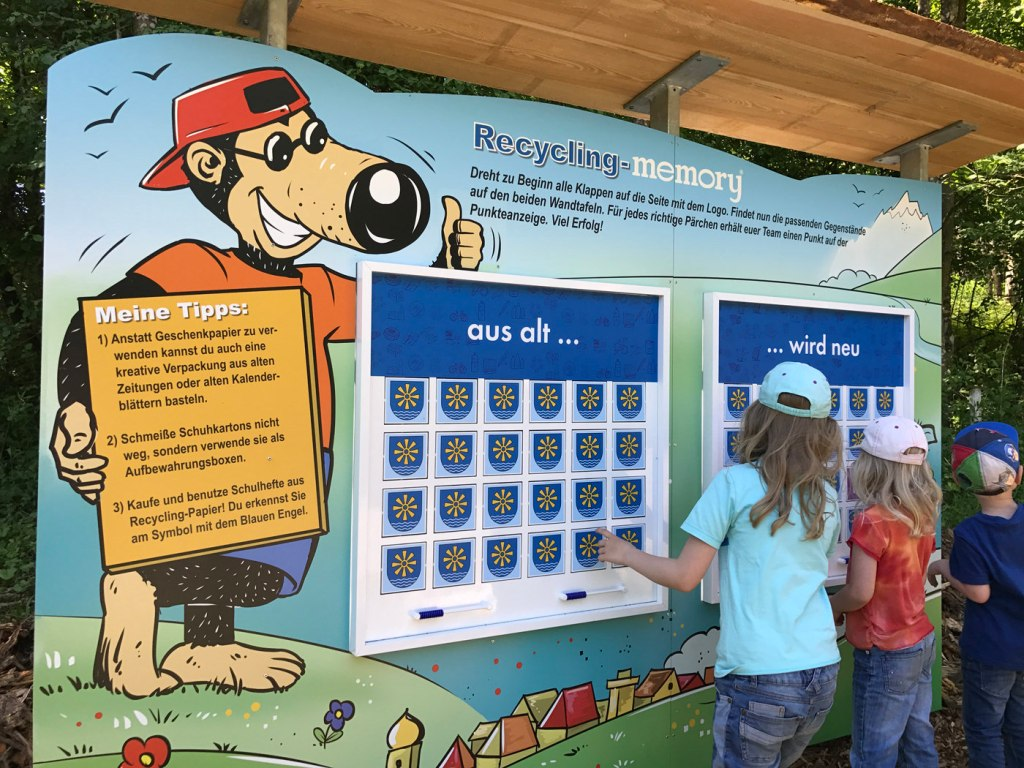 Kindererlebniswelt - Erlebnisdeponie - Recycling memory®