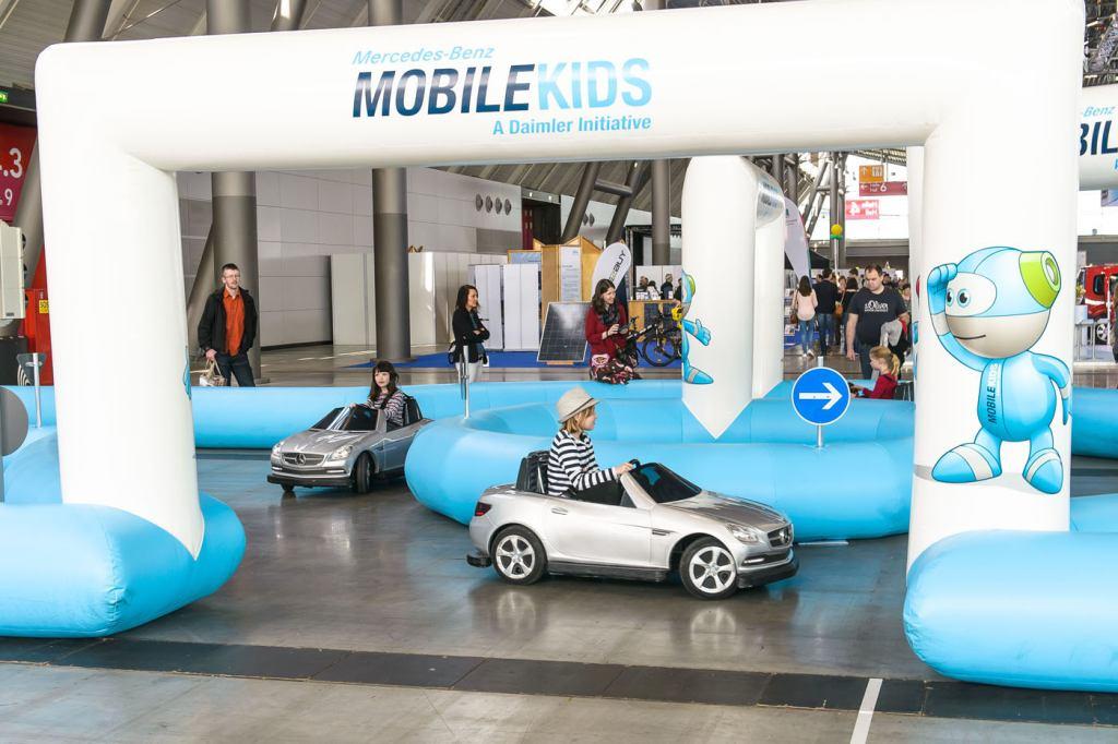 Event, Mobile Kinderverkehrsschule, MobileKids, Daimler, Merces-Benz, Elektroauto, SLK, Parcours, Agentur Ravensburger