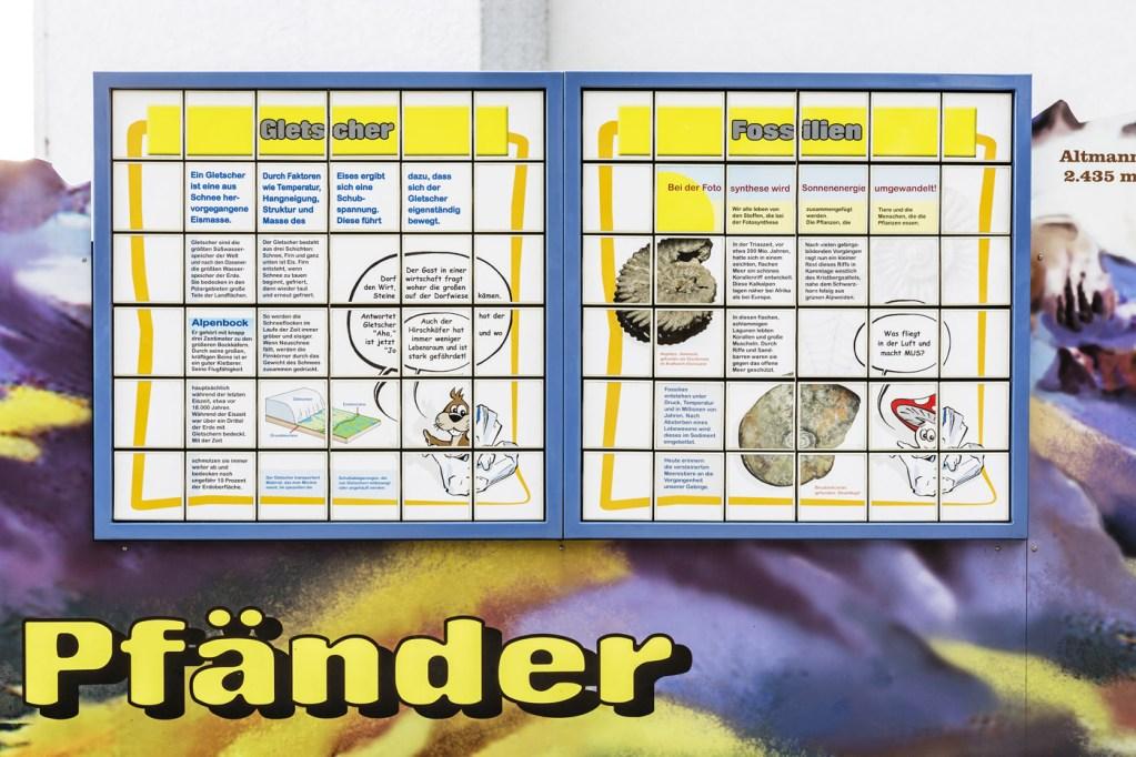 Kinder-Bergwelt auf dem Pfänder, Erlebniswelten, Kindererlebniswelten, Spielmodule, Dreh-Puzzle, Gletscher, Fossilien, Agentur Ravensburger
