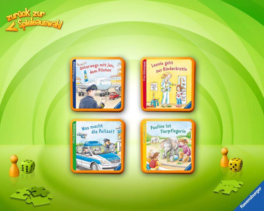 Übersicht, Kinder-Apps, Ravensburger Kinder Touch Computer, Bilderbücher, Entdecken, Spiele, lesen
