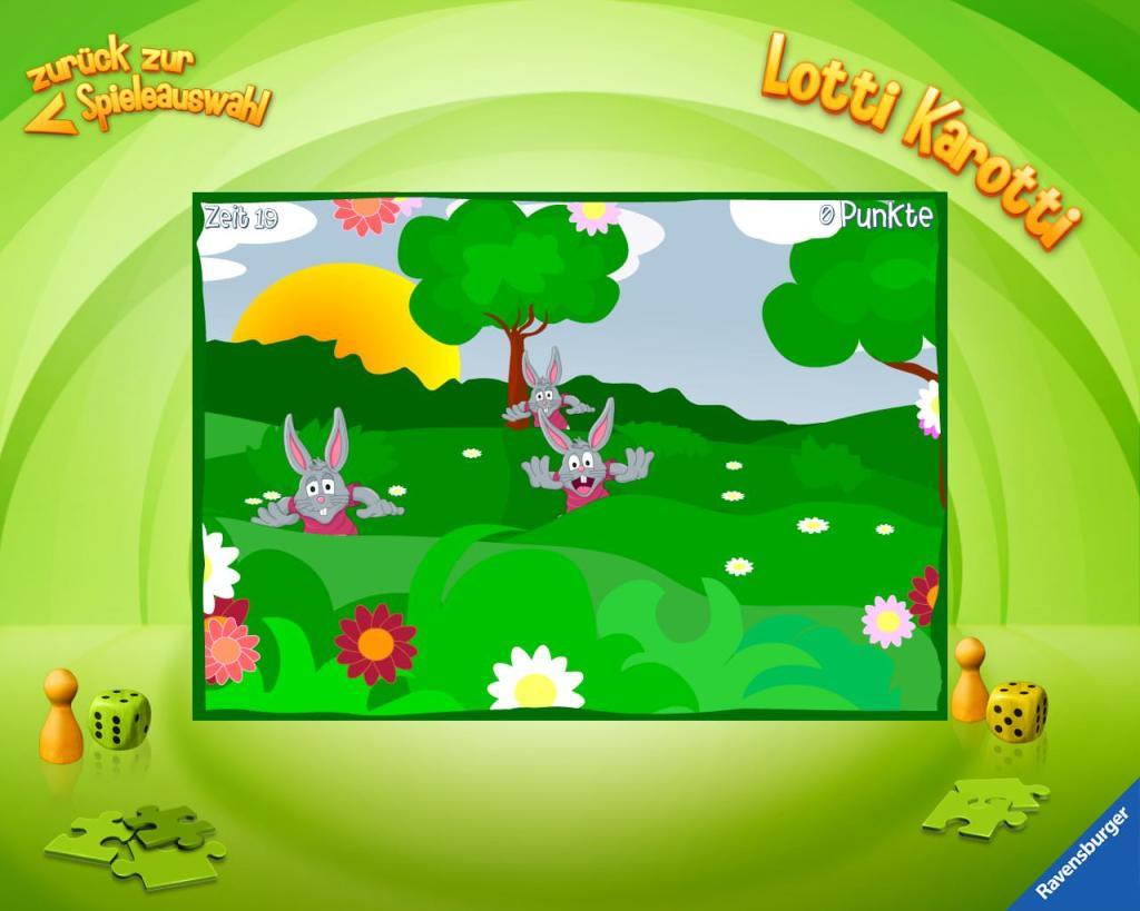 Übersicht der Kinder-Apps, Ravensburger, Kinder Touch Computer, Lotti Karotti, Reaktionsspiel