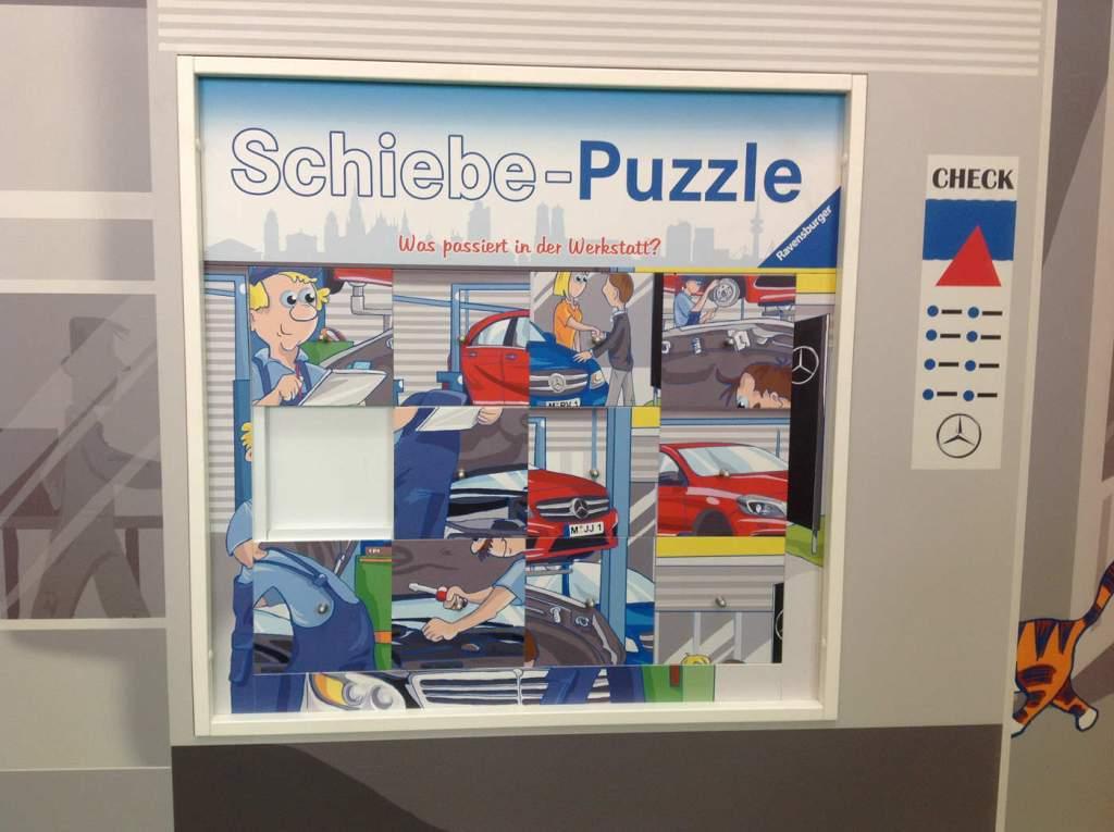 Ravensburger, Schiebepuzzle, individuell, Großspiel, Wandspiel, Spielelement, Puzzle, Spielkasten