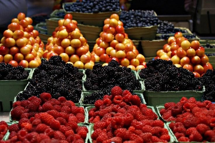 Markt frisches Obst