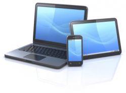 Aktuelle Geräte-Generation: Notebook, Tablet und Smartphone.