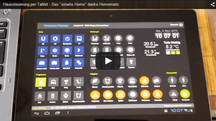 """Haussteuerung per Tablet – das """"smarte Home"""""""