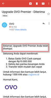Cara Upgrade Akun OVO Premier