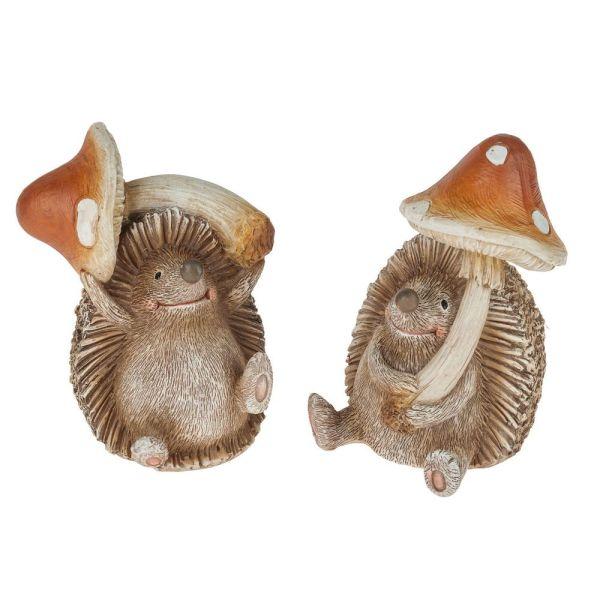 Figurină arici cu ciupercă