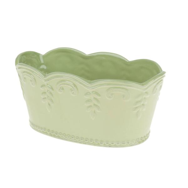 Jardinieră ceramică verde