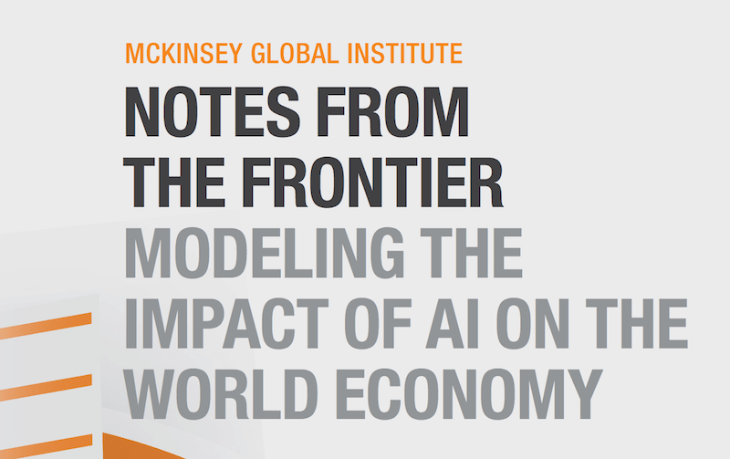 McKinsey: Economic Impact of Artificial Intelligence
