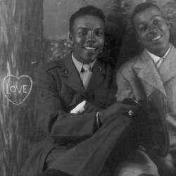 酷影像:二戰時期黑人同志情侶 珍貴照片出土